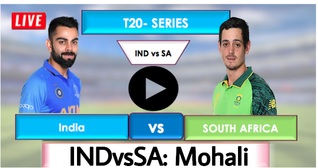 INDIA vs SOUTH AFRICA T20 : Watch Live Cricket Streaming online