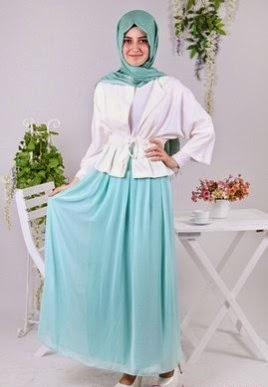 Dress chiffon muslim yang anggun