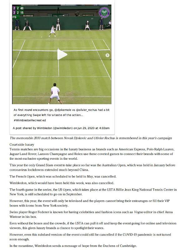 Wimbledon Championships - Luxury Daily