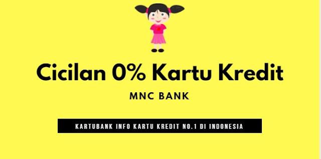 Ilustrasi cicilan 0% dengan kartu kredit MNC Bank