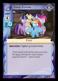 MLP Deep Trouble Seaquestria and Beyond CCG Card
