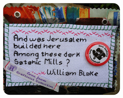 William Blake mini fashion protest banner