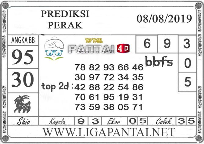 """PREDIKSI TOGEL """"PERAK"""" PANTAI4D 08 AGUSTUS 2019"""
