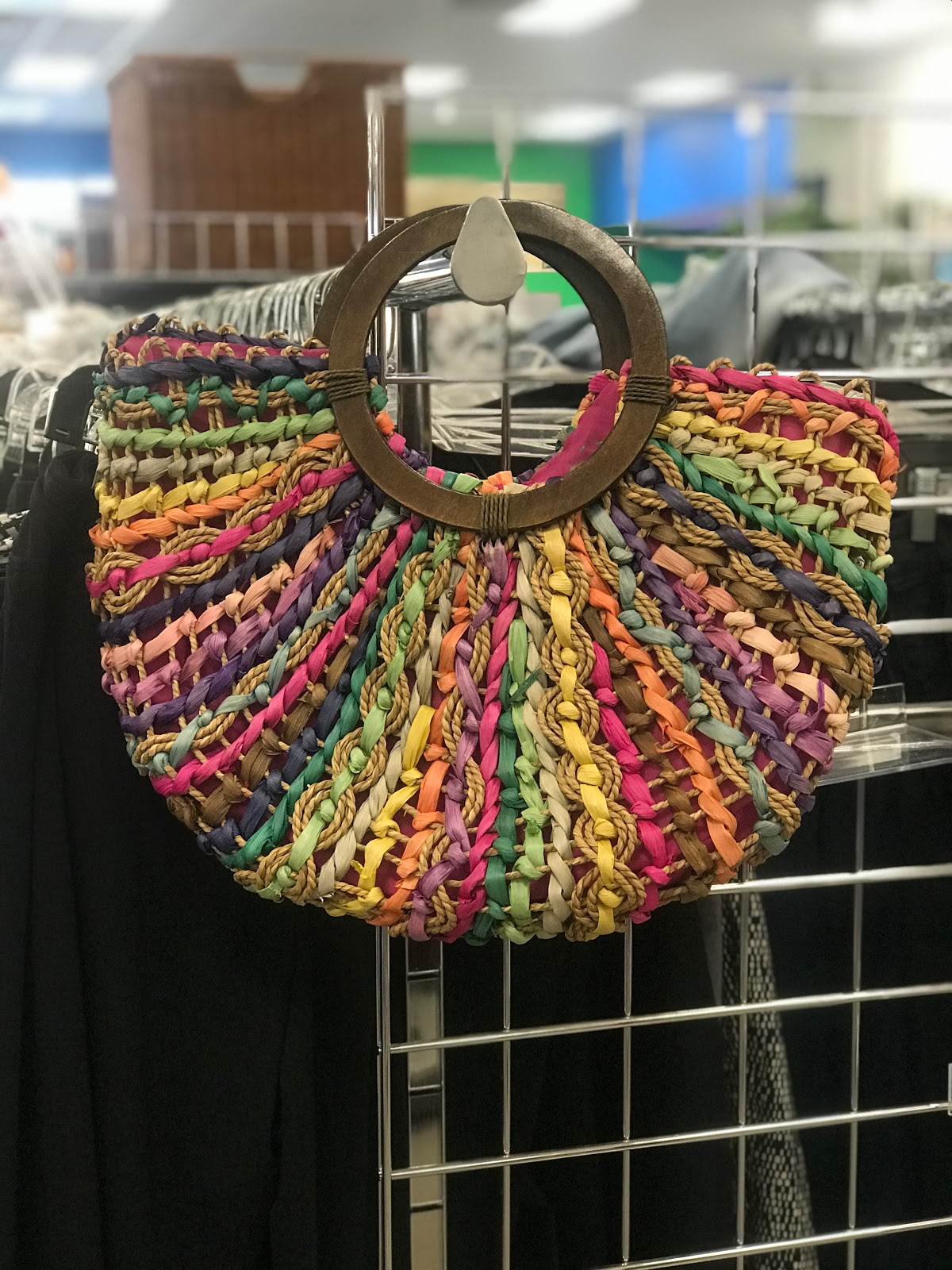 Found a basket weave hand bag from the thrift store this weekend