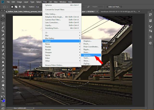 2 Cara Membuat Efek Fisheye / Gambar Cembung Di Photoshop CC Terbaru