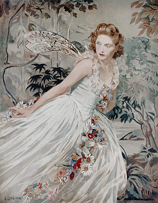Dorothy Hyson as Titania in A Midsummer Night's Dream, painting by Ethel Gabain