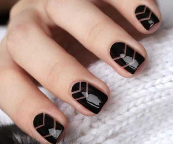Cute Nails with Chic Chevrons