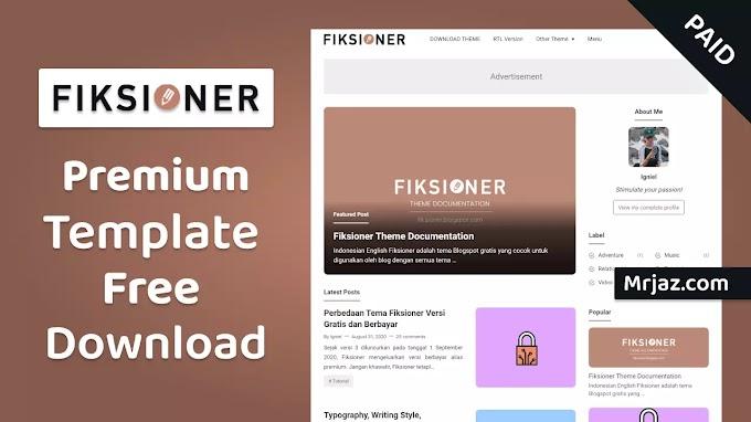 Fiksioner Premium Blogger Template Free Download