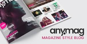 Anymag v2.13 - Blog de WordPress de estilo de revista