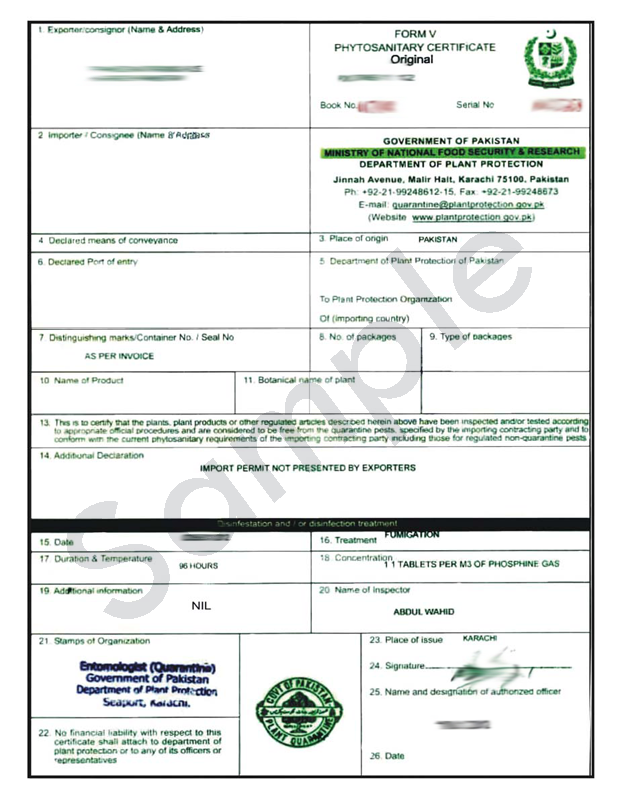 How To Get Phytosanitary Certificate In Pakistan Procedure To Get