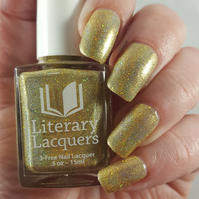 Yellow-Gold-Scattered-holographic-nail-polish