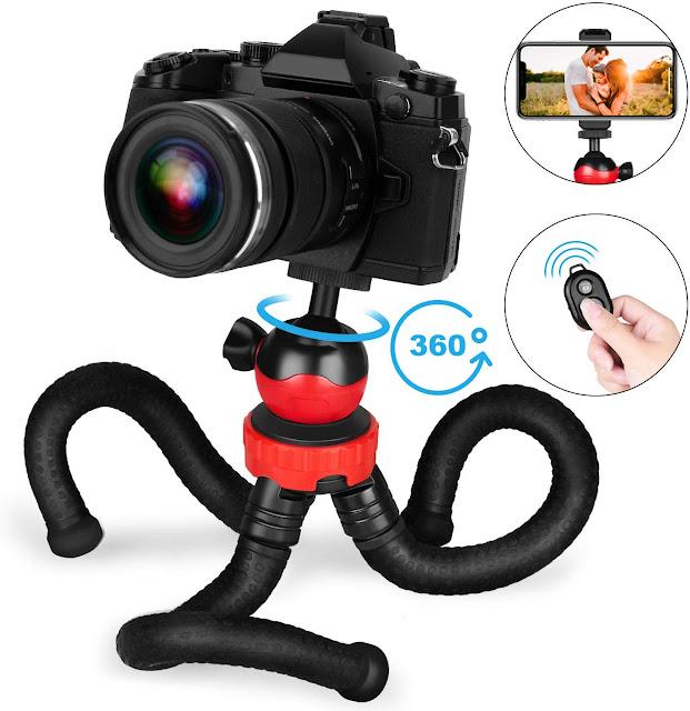 Goofoto Flexible Phone Tripod with Wireless Remote