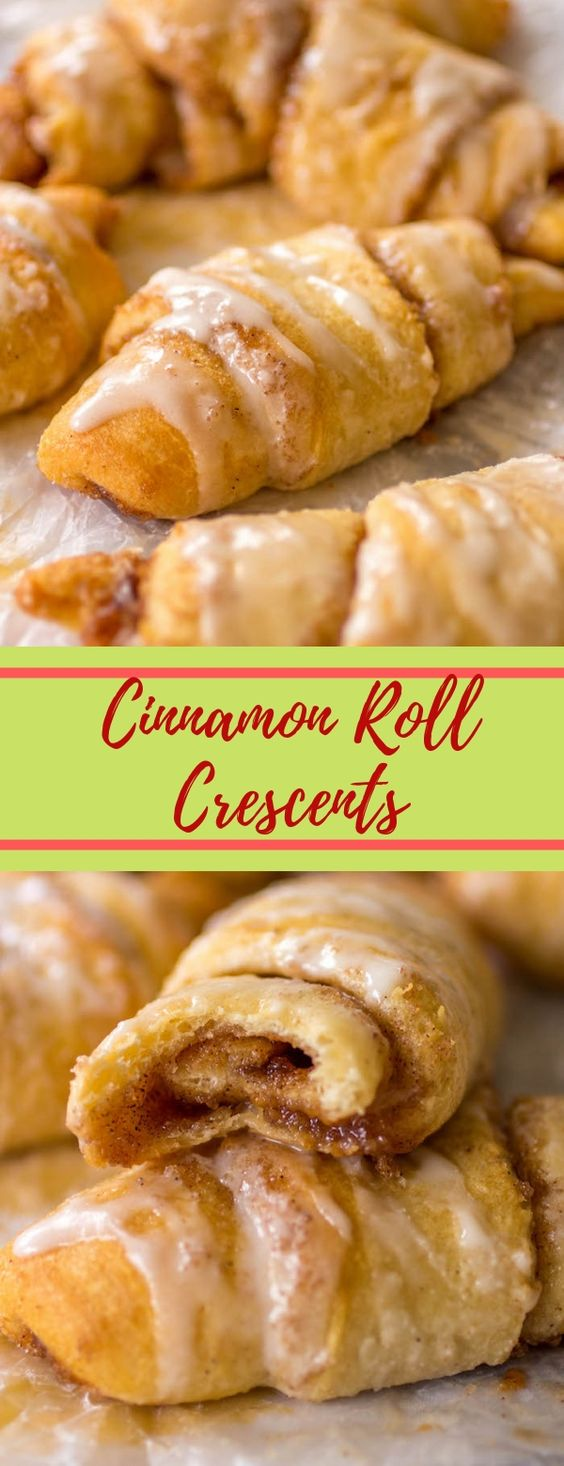 Cinnamon Roll Crescents