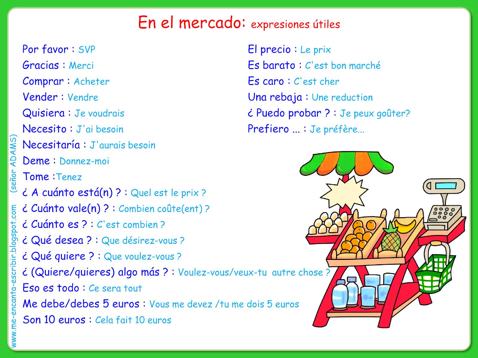 Me Encanta Escribir En Espanol En El Mercado Expresiones