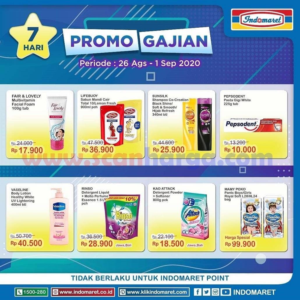 INDOMARET Promo GAJIAN Periode 26 Agustus - 1 September 2020 2