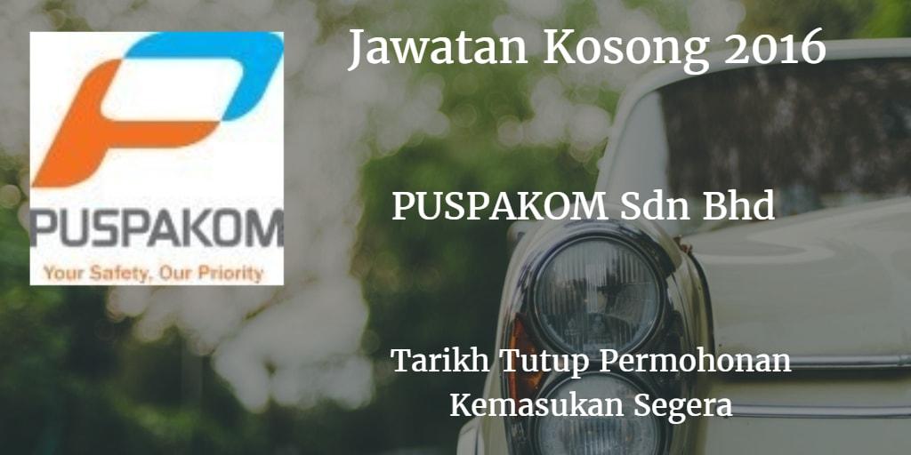 Jawatan Kosong PUSPAKOM Sdn Bhd Kemasukan Segera