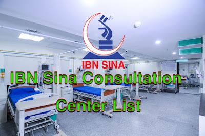 IBN Sina Consultation Center List
