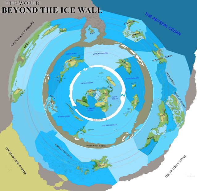 Flat Earth The World Beyond the Ice Wall
