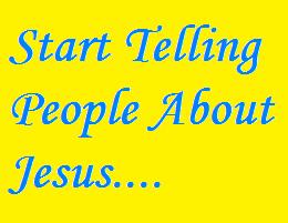 Start talking about Jesus