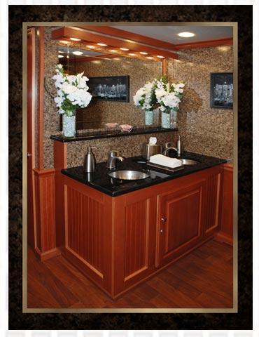 Luxury Restroom Trailer Inside