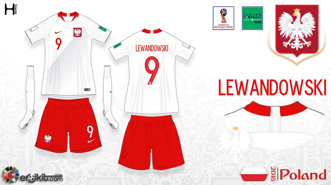 Home kit possui a tradicional combinação de camisas e meias brancas com  short vermelho 892bc7041cd67