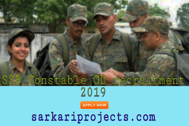 SSB Constable GD recruitment 2019