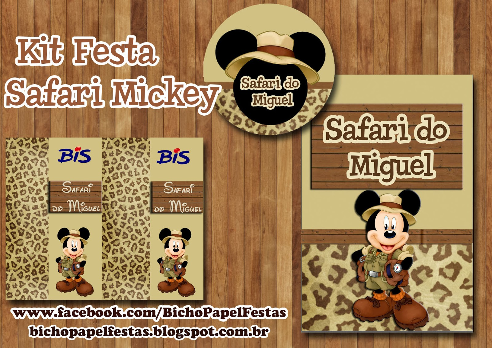 Kit Festa Safari Mickey