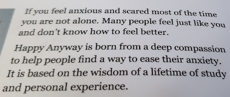 Happy anyway by Jane Hanford back of book blurb