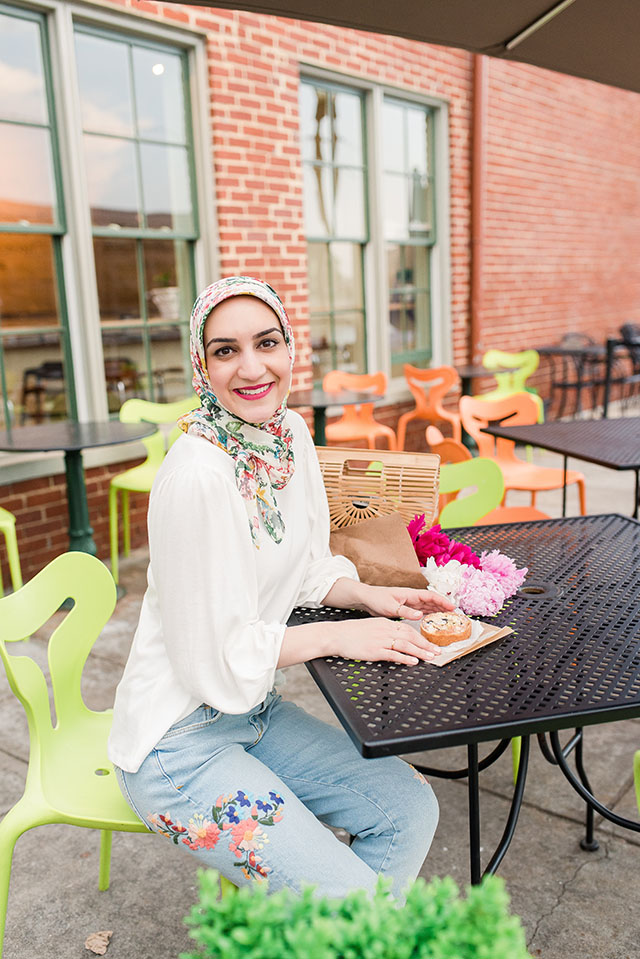 Anthropologie-Floral Embroidered Jeans-M. Gemi Felize Shoes-Cult Gaia Ark Bag-Spring Style-Hijab-Peony Flowers