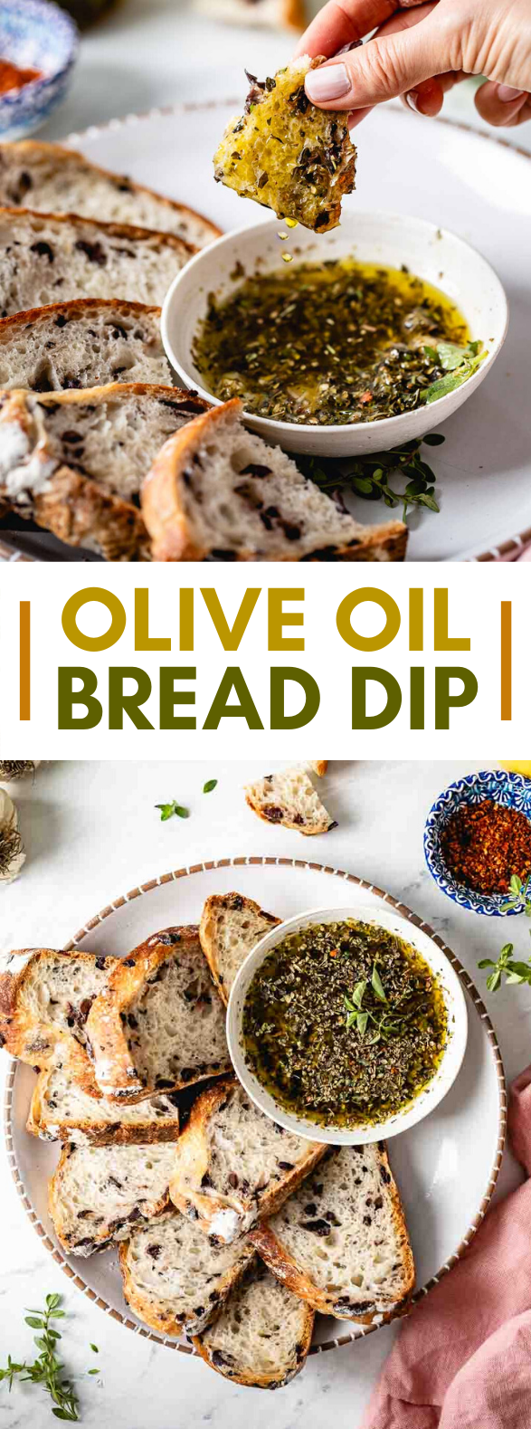 QUICK AND EASY OLIVE OIL BREAD DIP RECIPE (THE BEST 5-MINUTE APPETIZER) #dinner #simplerecipes
