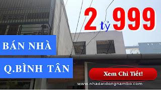 Bán nhà quận Bình Tân dưới 3 tỷ hẻm 704 Hương Lộ 2 phường Bình Trị Đông A