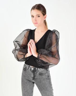 Balon Kol Elbise Modelleri