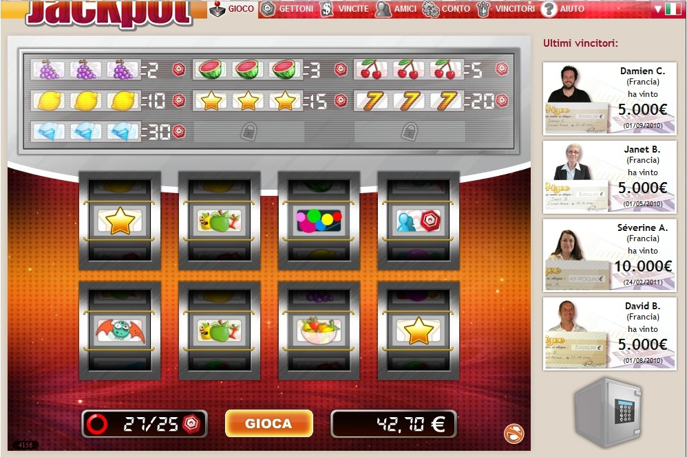 Percentuali di guadagno slot machine