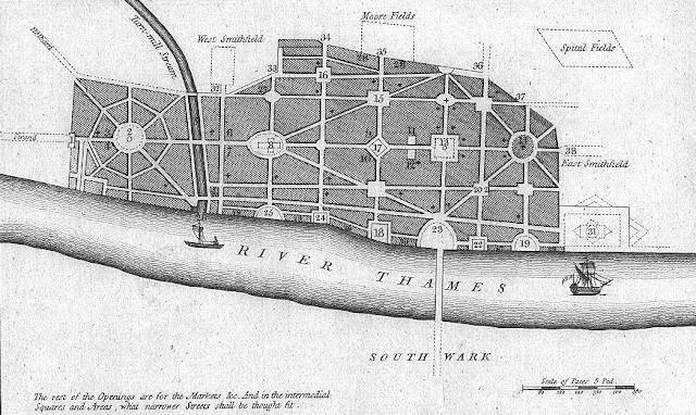 Nuevo diseño urbano de Londres | Reconstrucción incendio 1666 | Christopher Wren