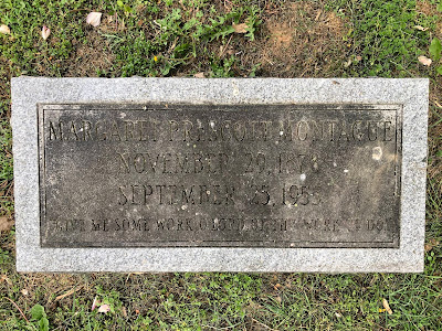 Small gravestone of author Margaret Prescott Montague