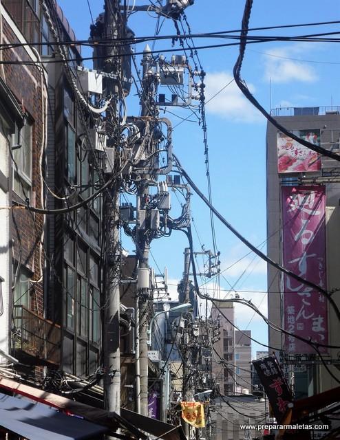 cables de la luz en japon