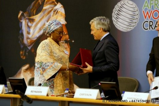 How Aisha Buhari Receives Award In Brussels...See Who She Dedicated It To!