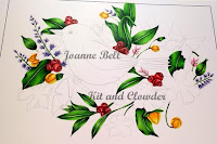 Leaves, Berries, Flowers coloured with copics on colours and cards
