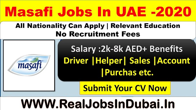 Masafi Careers In Dubai – UAE 2020