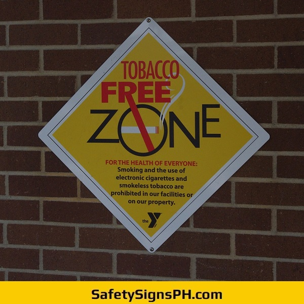Tobacco-Free Zone Signage