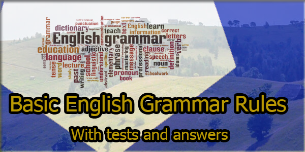 english grammar Book: English Grammar Rules With tests and answers