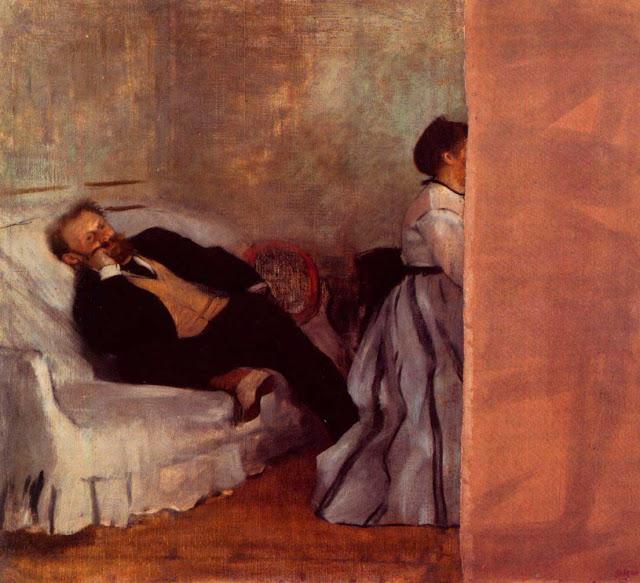 Эдгар Дега - Супруги Мане (1868-1869)