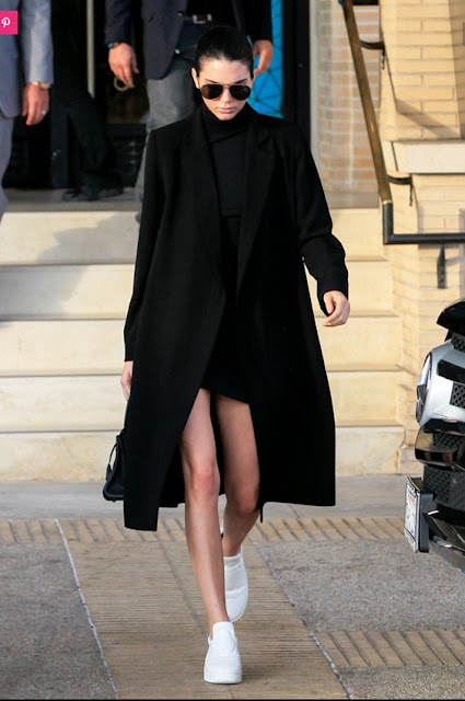 Kendall Jenner winter style all black outfit inspo