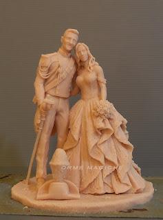 modellino scultura personalizzata su commissione statuette personalizzate per matrimonio realizzate a mano orme magiche
