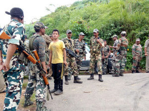 paramilitary personnel deployed in Darjeeling