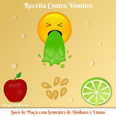 Receita Contra Vômitos: Suco de Maçã com Sementes de Abóbora e Limão