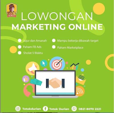 Lowongan Kerja Medan Juni 2020 di Totok Durian Sebagai Marketing Online
