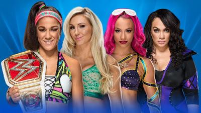 Raw Women's Champion Bayley vs. Charlotte Flair vs. Sasha Banks vs. Nia Jax