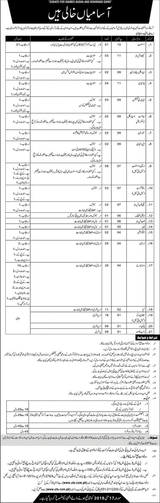 UTS Jobs in Armed Forces Institute of Urology May 2019