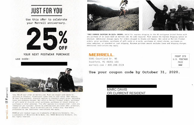 Merrell postcard mock-up, modified to add expiration date
